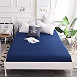 Single cotton bed cover,Piece bed cover mattress solid color 1.8m bed hypoallergenic wrinkle and fade resistant bed cover with split corners-B 200x220x30cm(79x87x12inch)