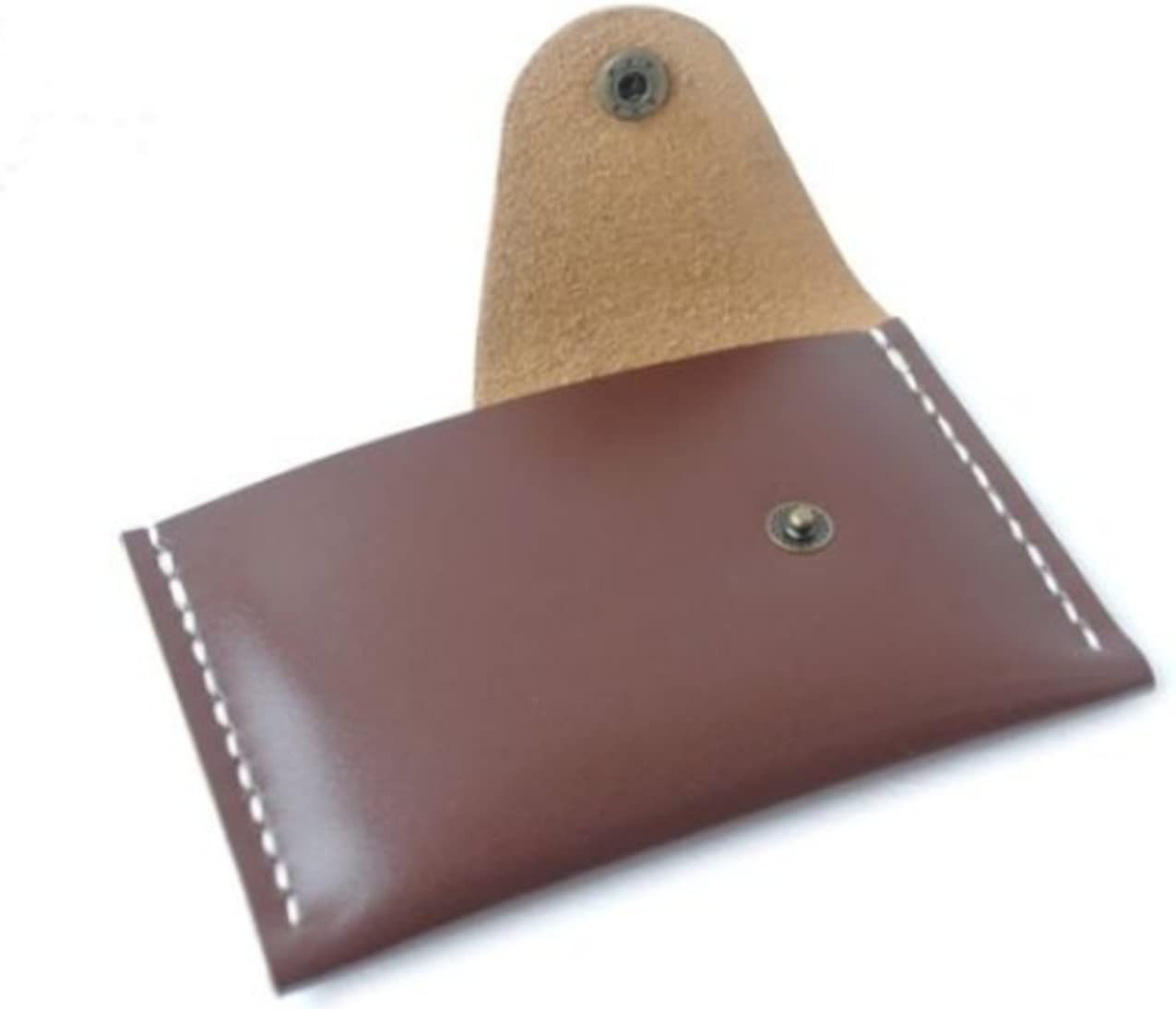 Wallet purse for men women cow Leather name Card Case Holder bag brown z154