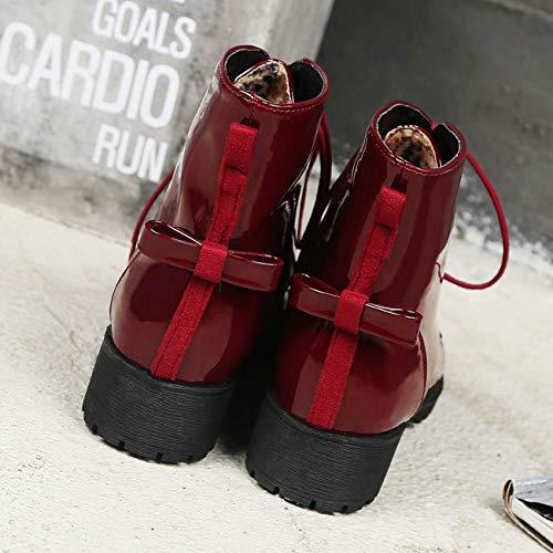 couleur bouts et rouge Zhrui vert lacets 4 pour bottes à femmes uk taille talons ronds à qA1pwvx