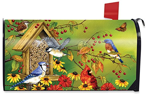 S Husky Animal Cardinal Cat Mailbox Covers Magnetic Post Box Cover Mail Wraps Standard Size for Outdoor Garden Decor 20.7x18.03 inch 2040532