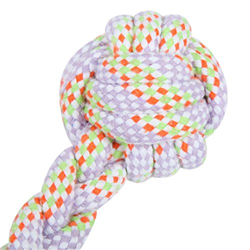 delicate Pet Dog Rope Toys Soft White Cotton Rope Dumbbell Shaped Chewing Toys Teeth Grinding for Small Medium Dogs Cats