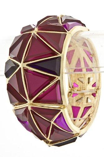 TRENDY FASHION JEWELRY TRIANGLE PATTERN BANGLE BY FASHION DESTINATION   (Purple)
