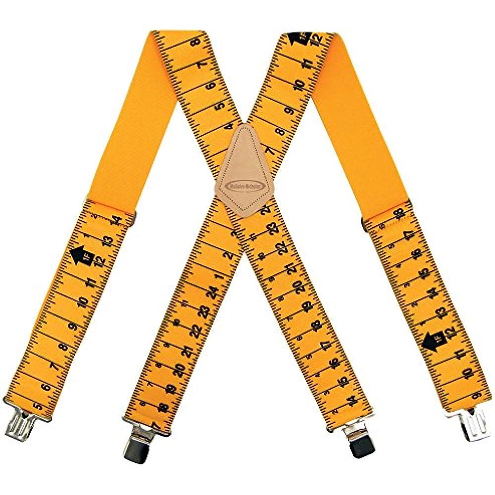"McGuire Nicholas Suspenders 2/"" Yellow Ruler Tape Measure Yard Stick Men NEW"