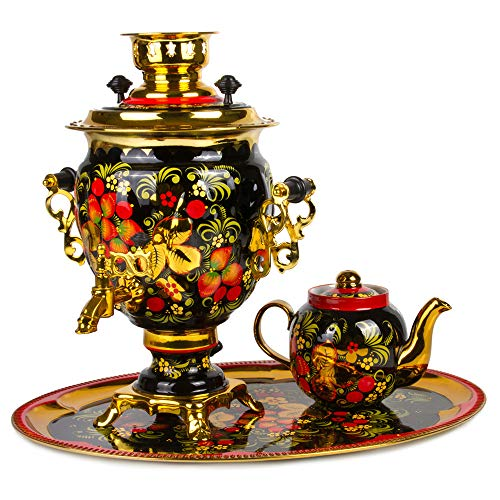 Khokhloma Electric Samovar Set with Tray & Teapot Russian Samovar Tea Maker by Tula (Image #9)