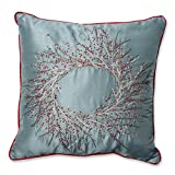 Pillow Perfect Christmas Wreath Throw Pillow, 18-Inch