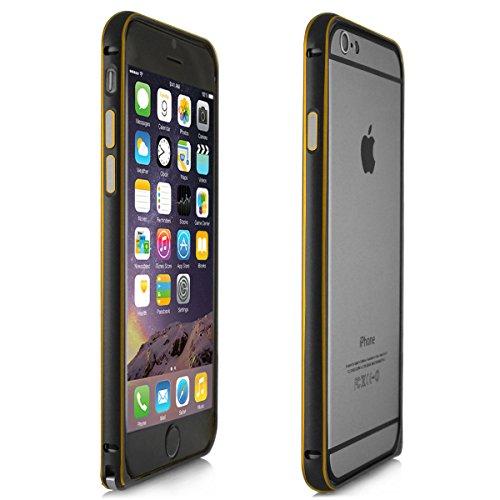Alienwork Schutzhülle für iPhone 6 Plus/6s Plus Ultra-flach Hülle Case Bumper Aluminium schwarz AP6P04-01