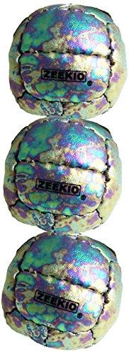 Zeekio Galaxy 12 Panel Leather Juggling Ball Cosmos, Set of 3 ZKGAL3