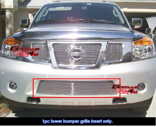 (APS N66508A Polished Aluminum Billet Grille Bolt Over for select Nissan Armada)