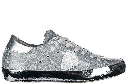 Philippe Scarpe Scarpe Modello Sneakers Argento Scarpe Da Ginnastica Parigi