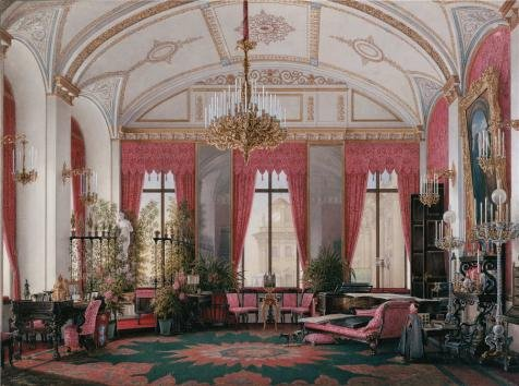 Polyster Canvas ,the Beautiful Art Decorative Canvas Prints Of Oil Painting 'Hau Edward Petrovich,Interiors Of The Winter Palace,The Raspberry Study Of Empress Maria Alex,1807-1887', 10x13 Inch / 25x34 Cm Is Best For Garage Decor And Home Decoration And Gifts (Alex Dog Carrier)