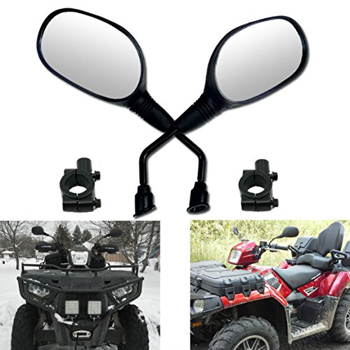 Mirrors 7/8 Handlebar Mount for Motorcycle Scooter Moped GY6 Dirt Quad Bike Bicycle Cruiser Coolster Snowmobile ATV Arctic Cat Can-am Honda Kymco Kawasaki KTM Suzuki Polaris Yamaha ()
