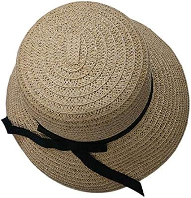 ca043093cbda2 Moda elegante mujeres niñas al aire libre sombreros del sol gorras verano  sombrero de playa gorra de paja sombrero flojo sombrero de ala grande para  viajes ...