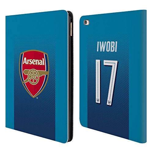 Official Arsenal FC Alex Iwobi 2017/18 Players Away Kit Group 1 Leather Book Wallet Case Cover For Apple iPad Air 2
