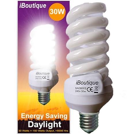 2000 Lumens Ecozone Biobulb Daylight bulb,30W Energy Class A White