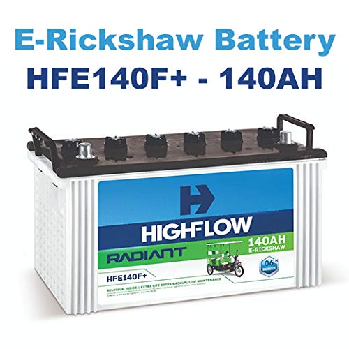 Highflow E Rickshaw Battery Hfe140f 140ah 6 Months Warranty