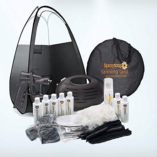 Rapidtan HVLP Airbrush Spray Tan Kit with Tent, 6 x Tan Solutions & More