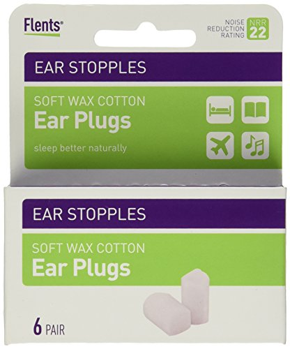(Flents Ear Stopples (6 Pairs of Soft Wax Ear Plugs) NRR 22)