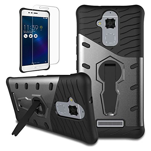 Shockproof Armor TPU/PC Case for Asus Zenfone Max (Black) - 9