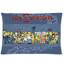 Bedroom Decor Custom Home Decoration The Simpsons Cartoon Style Pillowcase Soft Zippered Throw Pillow Cover Cushion Case Covers Fasfion Design Two Sides Printed 20x30 pillows