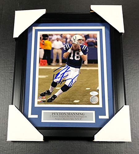 Peyton Manning 1 Autographed Signed Framed 8x10 Photo Indianapolis Colts Memorabilia - JSA Authentic