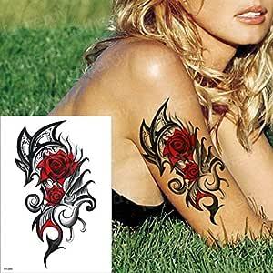 Handaxian 3pcs Tatuaje brújula Palabra Duradera Hombre Brazo ...