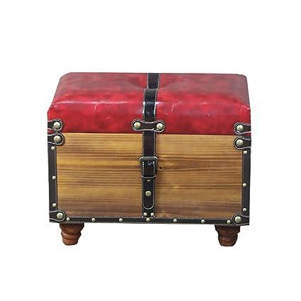 Stupendous Amazon Com Footstools Yxx Wood Retro Storage Ottoman Bench Inzonedesignstudio Interior Chair Design Inzonedesignstudiocom