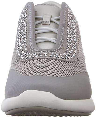 Multicolor Lt Ophira D Women's E Geox Silver Top Grey Multi Low Sneakers 78qzn5xwR