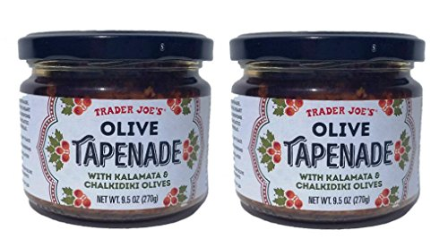 Trader Joes Olive Tapenade With Kalamata & Chalkidiki Olives, 9.5 Oz (Pack of 2)