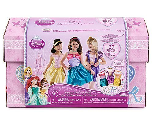 Disney Princess - 27 Piece Dress Up Trunk with Accessories - Ariel, Rapunzel, & Belle