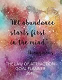 """The Law of Attraction Goal Planner 2018: 8.5"""" x"""