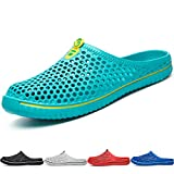 BIGU Slippers Breathable Mesh Flip Flop Beach Sandals Outdoor Sports Casual Summer Shoes Men Women Unisex Slip-On Lightweight Quick-dry Garden Clog Shoes Indoor Hole Sandals Turquoise 10.5 UK