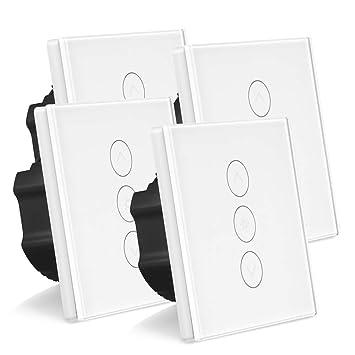 4 Pack Smart Dimmer Schalter Wlan Beruhren Lichtschalter Arbeit Mit