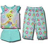 "Disney Fairies ""Tinkerbell"" 3-piece Pajama Set for Girls - 4"