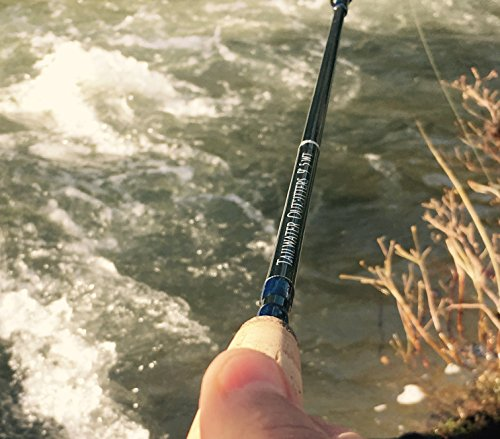 Fly fishing rod. Tailwater Outfitters Toccoa Fly Rod: Fast Action 9' 4 piece IM8 Graphite With Rod Tube (5 weight)