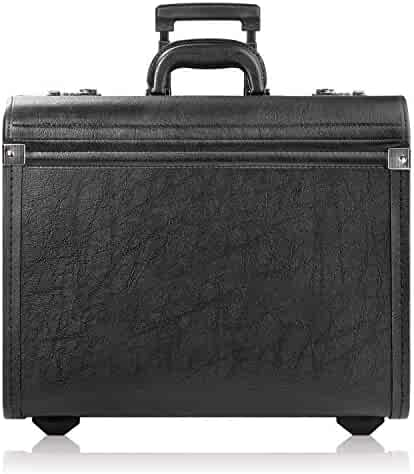 Solo Classic Rolling Catalog Case, Black with dual combination locks, K74-4
