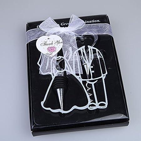 Amor corazón vino champagne sacacorchos del sacacorchos abridor de la botella de la botella de vino Tapón de la boda de la boda de las bodas Suministros de decoración para el hogar ( Color : Silver )