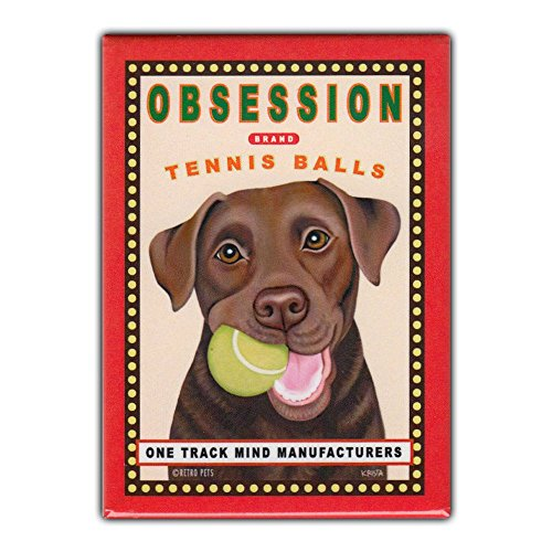Retro Pets Refrigerator Magnet - Obsession Tennis Balls, for sale  Delivered anywhere in Canada