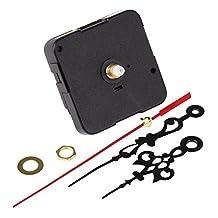 BQLZR Clock Mechanism Kit Quartz Quiet Movement 55 x 55mm Motor with Hand Gaskets Nut Pack of 2