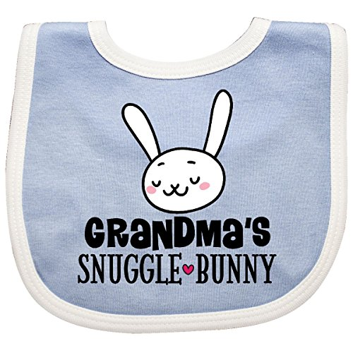 Inktastic - Grandma Snuggle Bunny Easter Outfit Baby Bib Blue/White 2ecd4