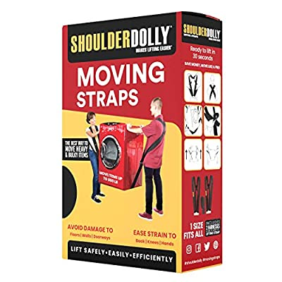 Shoulder Dolly Moving Straps - Lifting Strap for 2 Movers - Move, Lift, Carry, And Secure Furniture, Appliances, Heavy, Bulky Objects Safely, Efficiently, More Easily Like The Pros - Essential Moving Supplies - LD1000: Home I