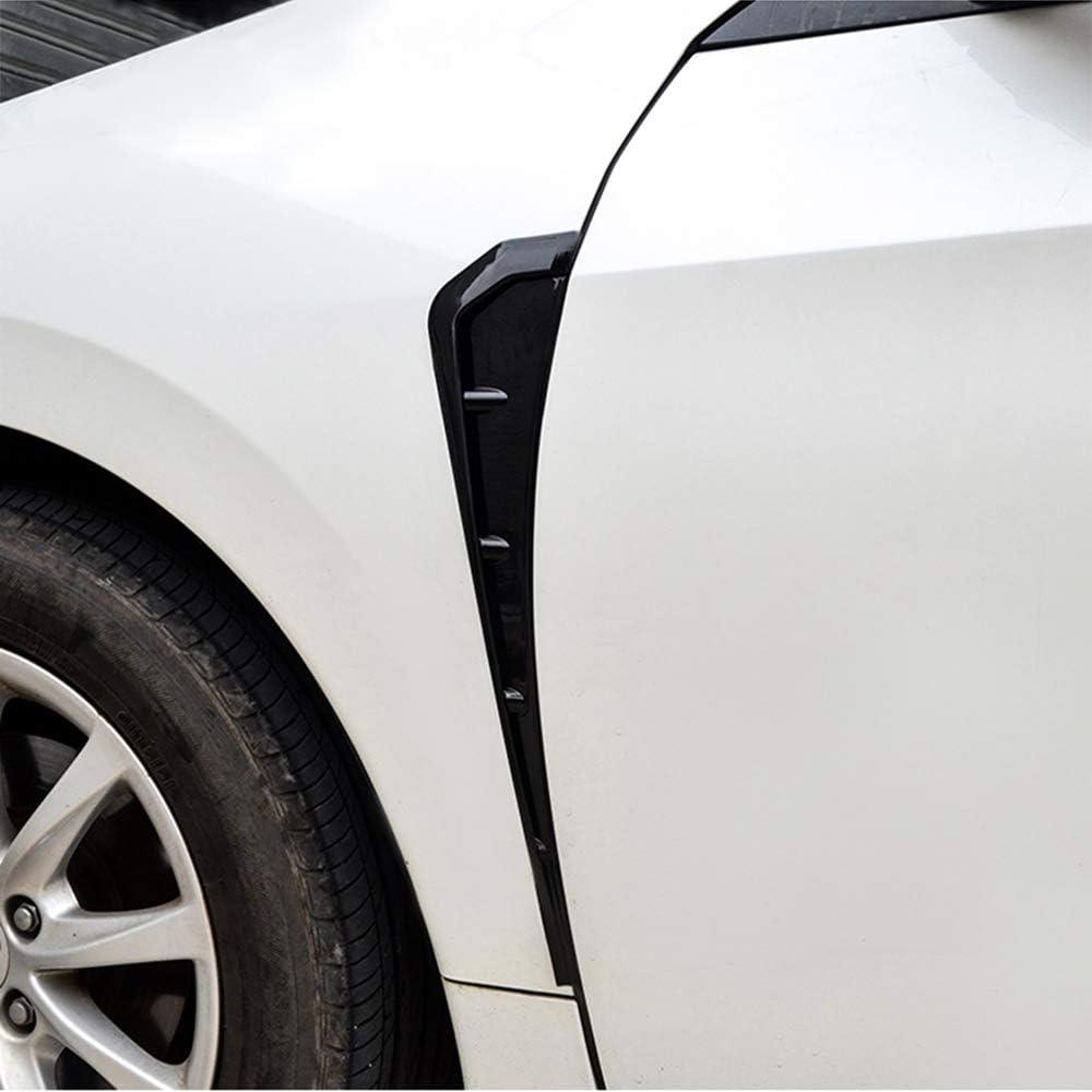 MeiZi Canalizaci/ón de Aire del Lado del Coche 2pcs ala Fender Vents Recorte Negro en Forma for el BMW X5 x5m F15 F85 2014-2018 Lateral Auto ala Fender Cubierta decoraci/ón