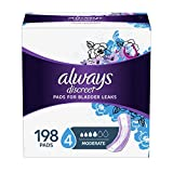 Always Discreet Incontinence Pads for Women, Moderate Absorbency, Regular Length, 66 Count- Pack of 3 (198 Count Total) (Packaging May vary)