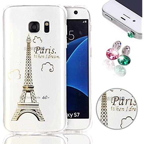 Samsung Galaxy S7 Case, Pershoo S7 Clear Transparent Case, Hot Stamping Ultra Slim Non Slip Anti-Fingerprint Protector Sales