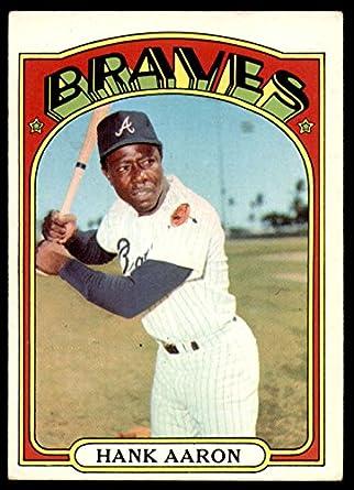 Amazon.com: 1972 Topps # 299 Hank Aaron Atlanta Braves