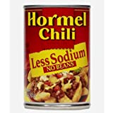 Hormel Chili No Beans-Less Sodium, 15-Ounce (Pack of 6)