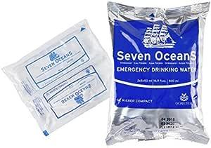 Conserva de agua potable Compact Seven Oceans, ración de agua ...
