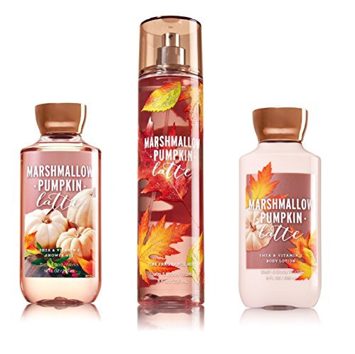 Bath & Body Works ~ Signature Collection ~ Marshmallow Pumpkin Latte ~ Shower Gel ~ Fine Fragrance Mist & Body Lotion ~ Trio Gift Set ()