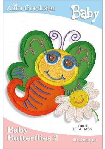 Anita Goodesign Embroidery Cd Baby Butterflies #2 ()