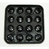 Iszy Billiards Standard Pool Ball Tray for 16 Balls, 2 1/4-Inch, Black