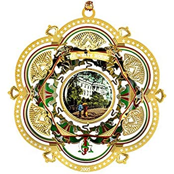 2005 White House Christmas Ornament, The South Facade by White House  Historical Association - Amazon.com: 2004 White House Christmas Ornament, A First Family's